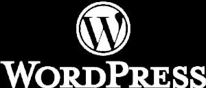 WordPress logotyp vit